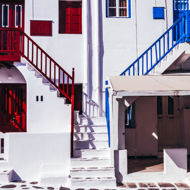 """""""Classic Greek island of Mykonos old town house"""" stock image"""
