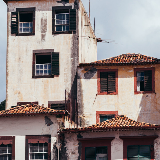 """""""Funchal, Madeira, Portugal, old town"""" stock image"""