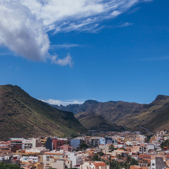 """San Sebastian de La Gomera panoramic view"" stock image"
