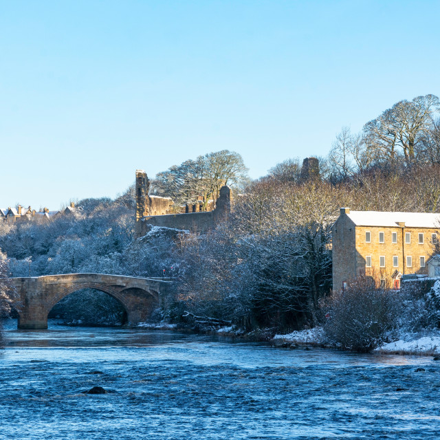 """""""The River Tees at Barnard Castle"""" stock image"""
