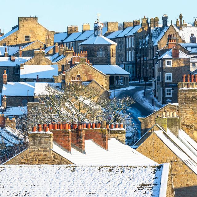 """Rooftops of Barnard Castle"" stock image"