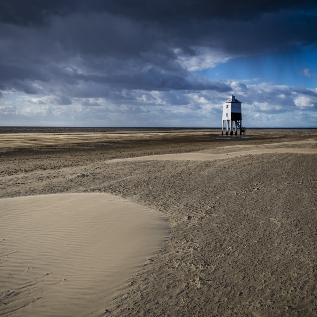 """""""Low tide at Burnham-on-Sea in North Somerset"""" stock image"""