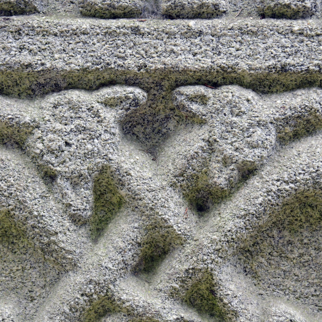 """""""Moone High Cross carved panel"""" stock image"""