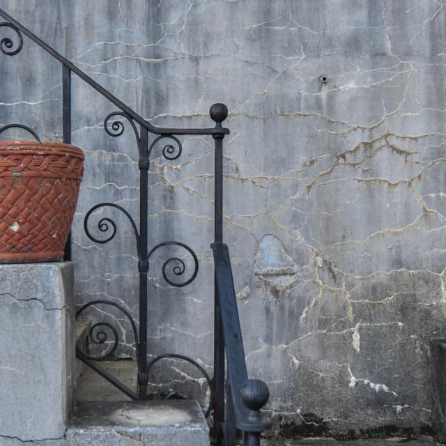 """""""Steps & urn"""" stock image"""