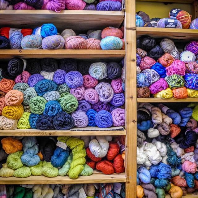 """Yarn display"" stock image"