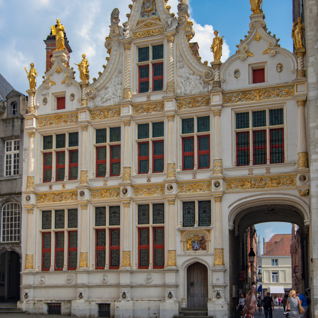 """""""Brugse Vrije facade - 18th-c. courthouse"""" stock image"""