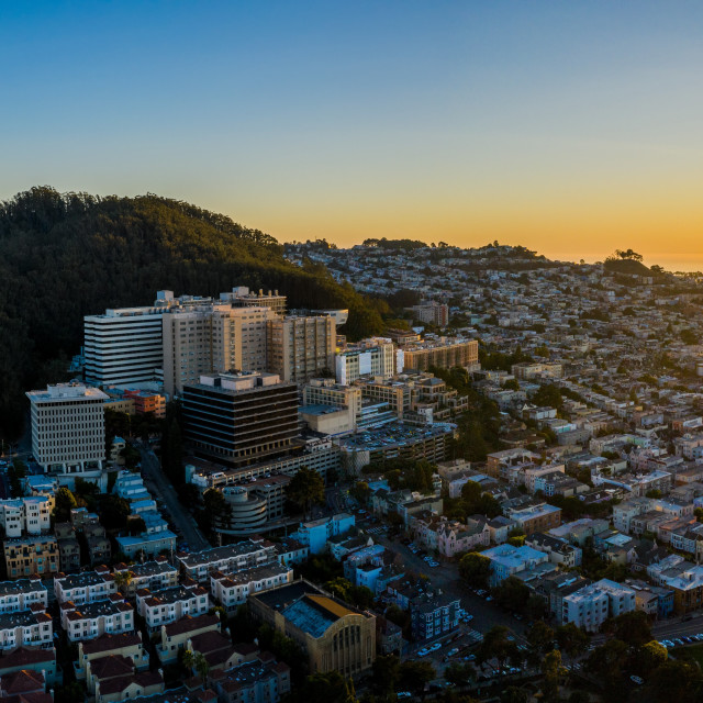 """""""Sutro, UCSF, and the Pacific"""" stock image"""