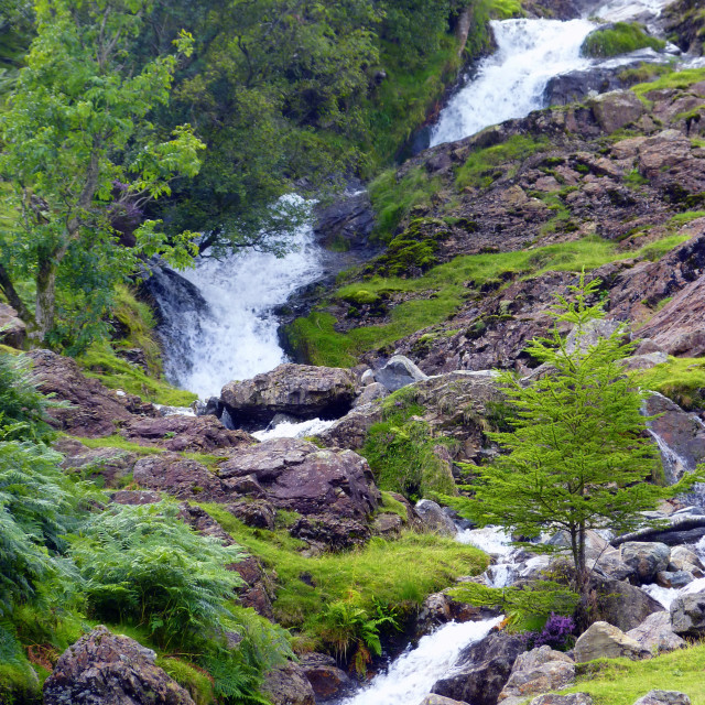 """Waterfall at Buttermere - Lake District Landscape"" stock image"