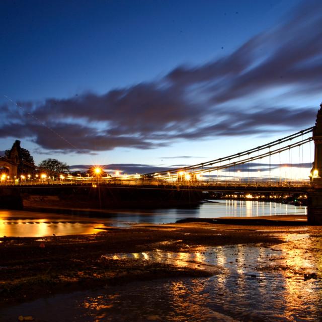 """Hammersmith Bridge"" stock image"