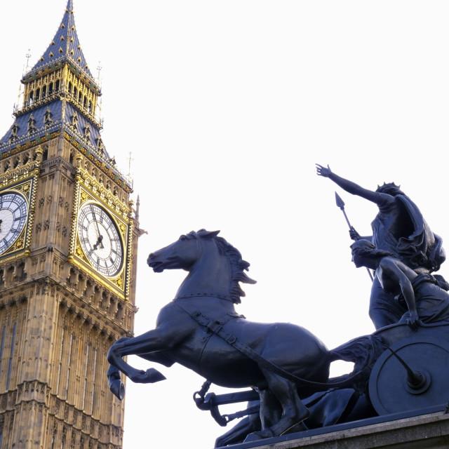 """Boadicea & Big Ben - City of London"" stock image"