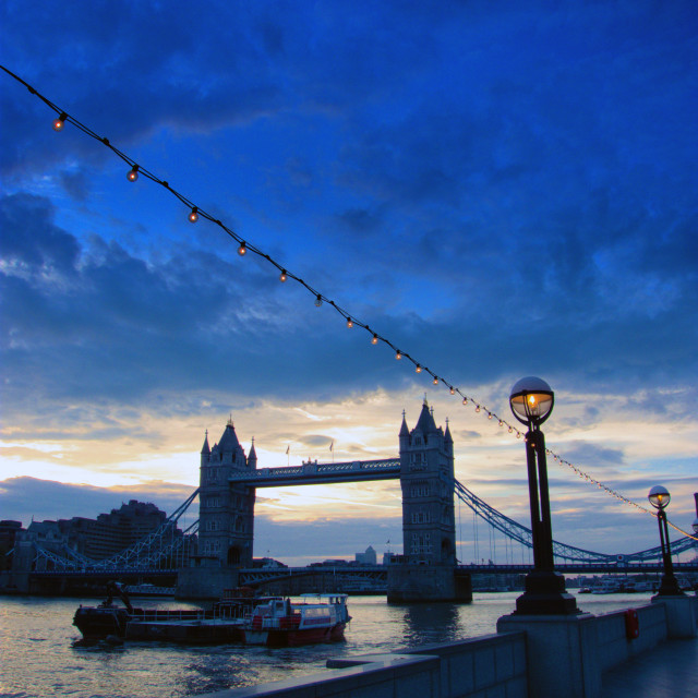 """Blue Dawn over Tower Bridge, London"" stock image"