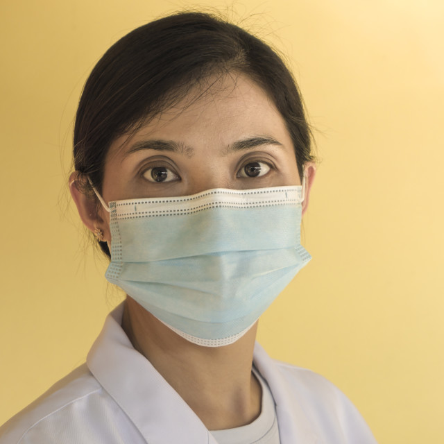 """""""Woman Doctor With Medical Face Mask"""" stock image"""