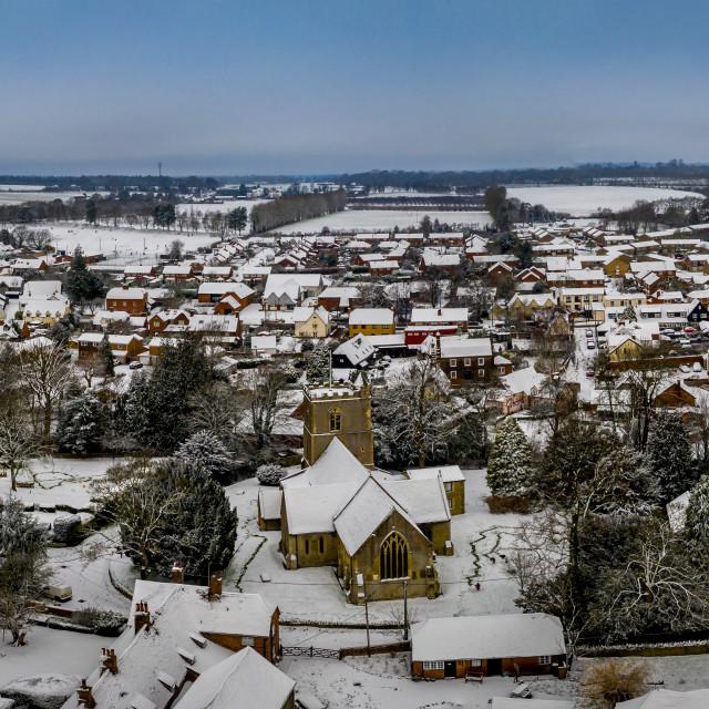 """Harwell Snowy Panorama"" stock image"