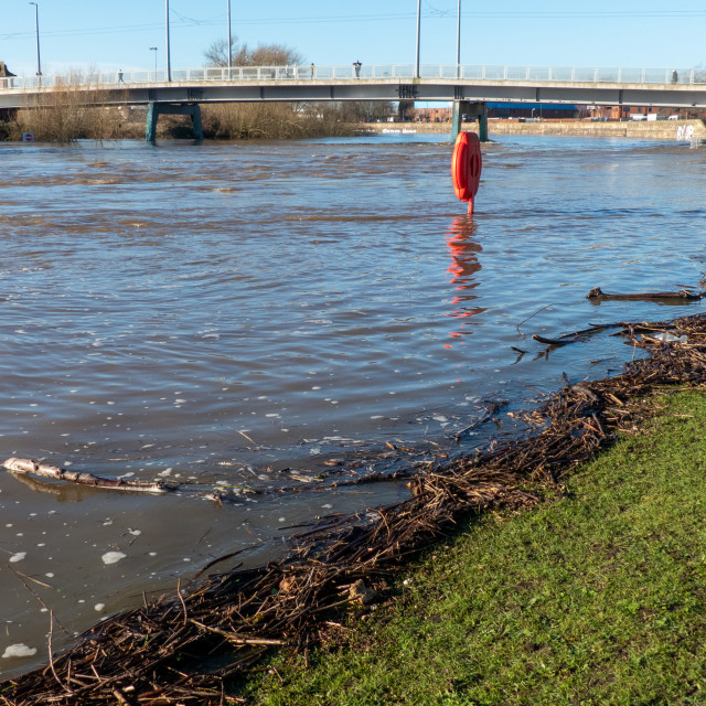 """River Trent in Flood"" stock image"