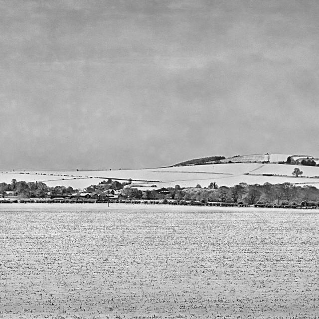 """Etchilhampton Hill - Devizes, Wiltshire, England"" stock image"
