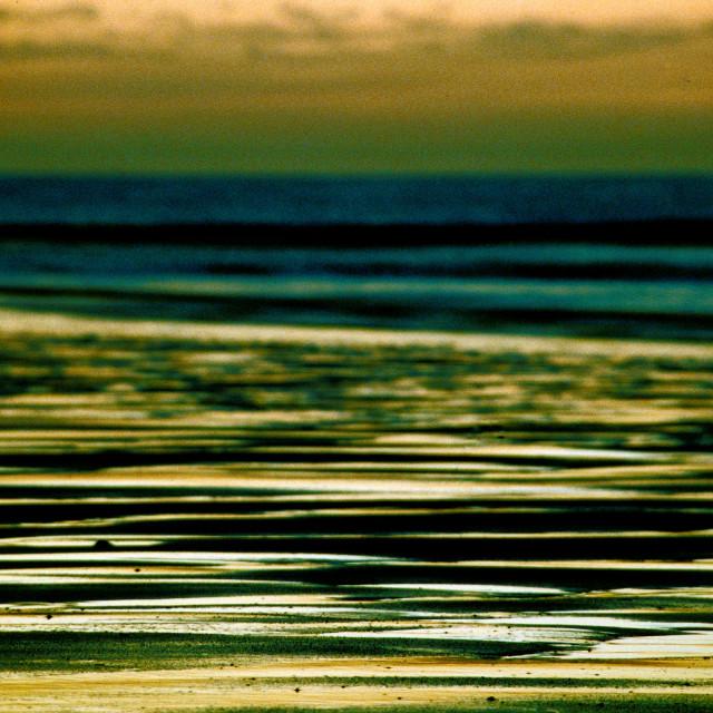 """Beach at twilight"" stock image"