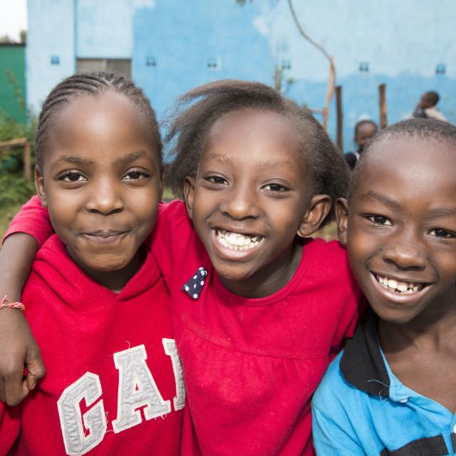 """""""Kibera Slum Nairobi Kibera Slum Nairobi Kenia"""" stock image"""