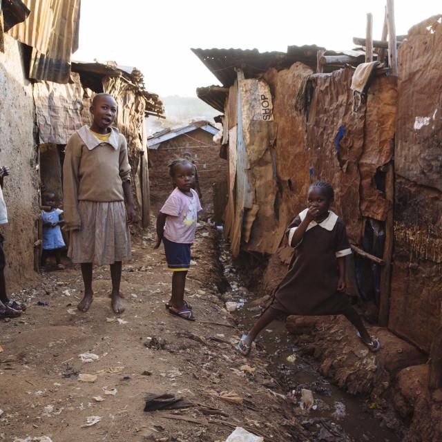 """Kibera Slum Nairobi Kenia"" stock image"