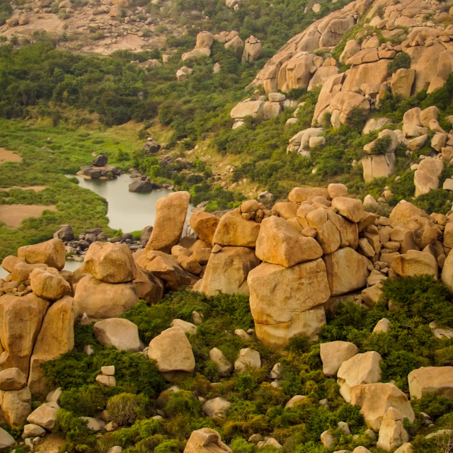 """Matanga Hills in Hampi"" stock image"