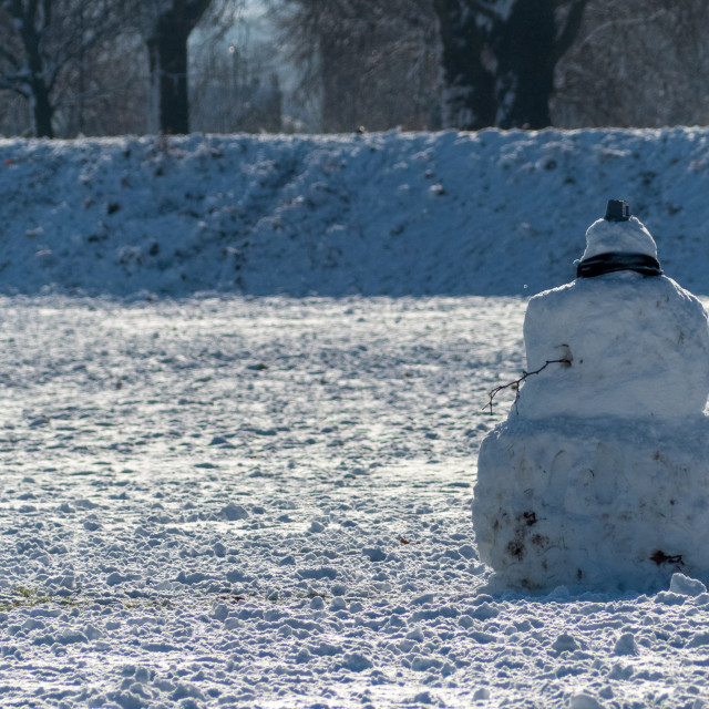 """""""Snowy day in Nottingham"""" stock image"""