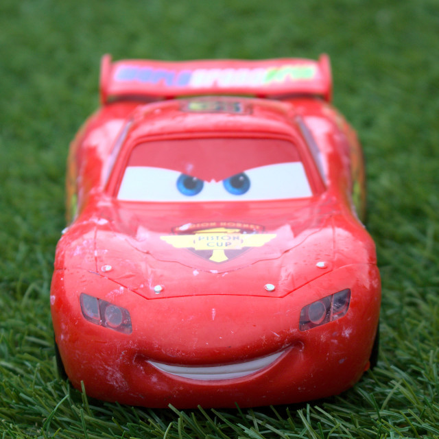"""""""Used Car Toy - Lightning McQueen"""" stock image"""