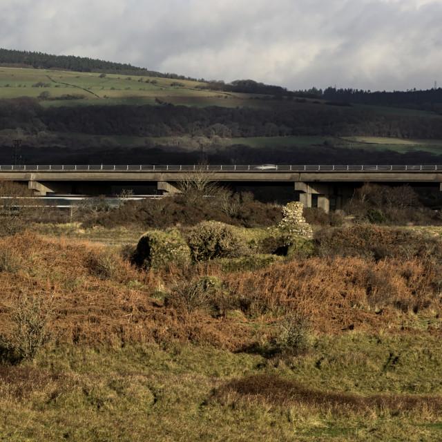 """Motorway M4 from Kenfig"" stock image"
