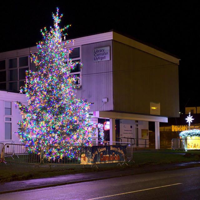 """Cwmavon Christmas Tree"" stock image"
