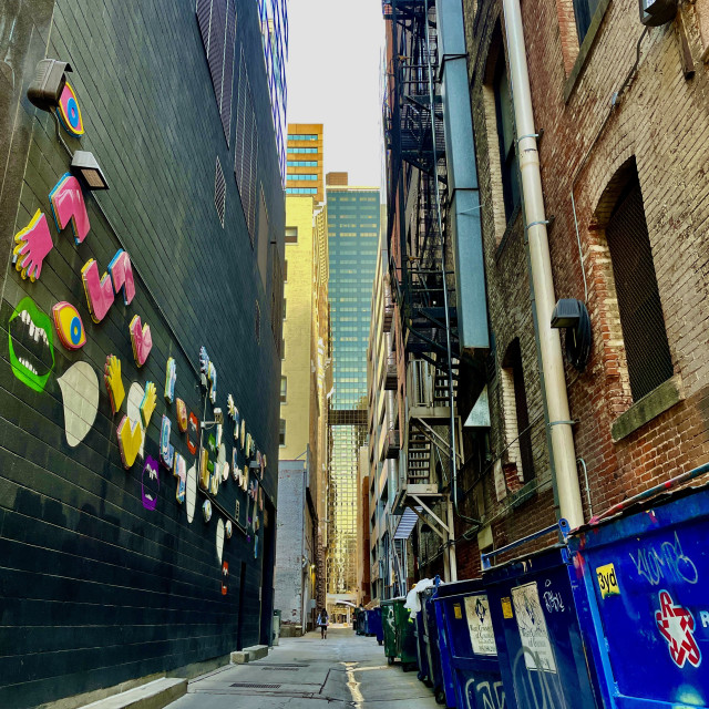 """""""Alley Art"""" stock image"""
