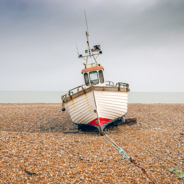 """""""Waiting for the tide"""" stock image"""