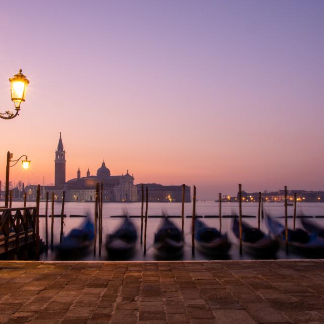 """Venice - Ghostly Gondolas"" stock image"