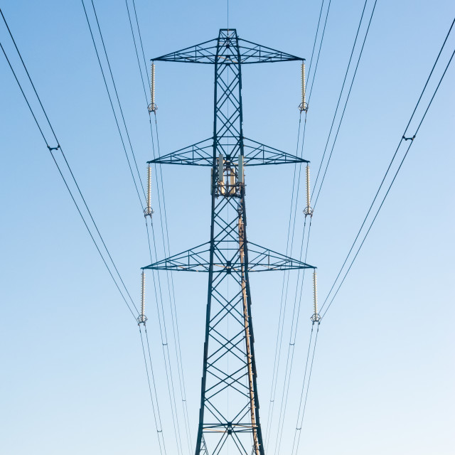 """high voltage electric power lines"" stock image"