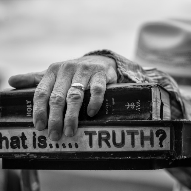 """""""What is truth."""" stock image"""