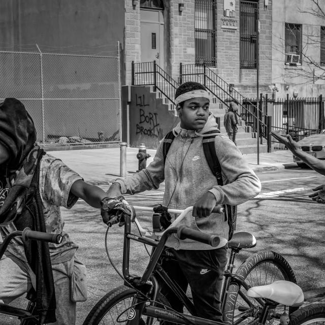 """Harlem Street Scene"" stock image"