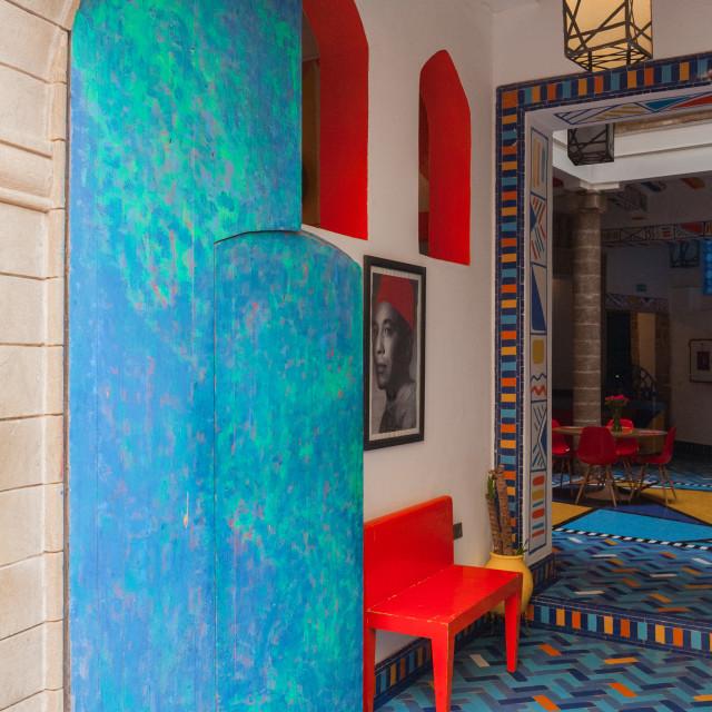 """Cafe in Essaouira"" stock image"