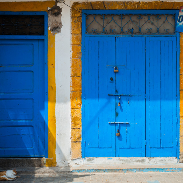 """""""Colourful Doors"""" stock image"""