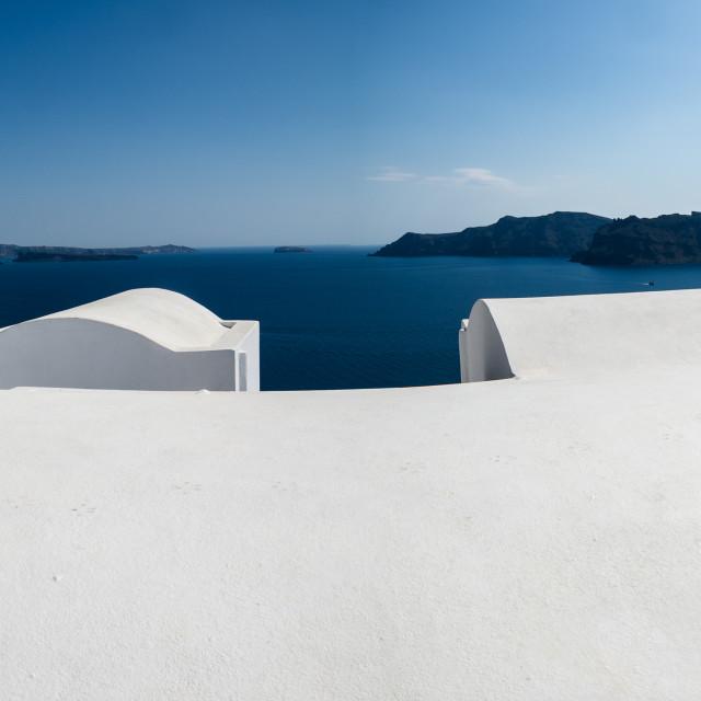 """Sea view from Oia Santorini"" stock image"