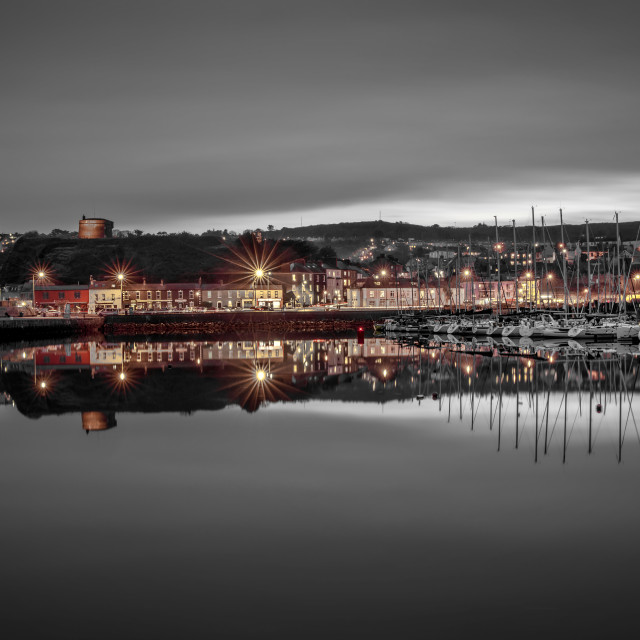"""""""Howth Harbour Reflected"""" stock image"""