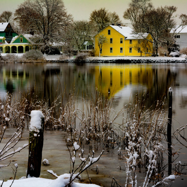 """Historic Wickford Village"" stock image"