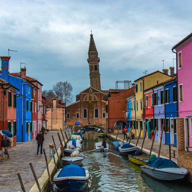 """""""Leaning Tower of Burano"""" stock image"""