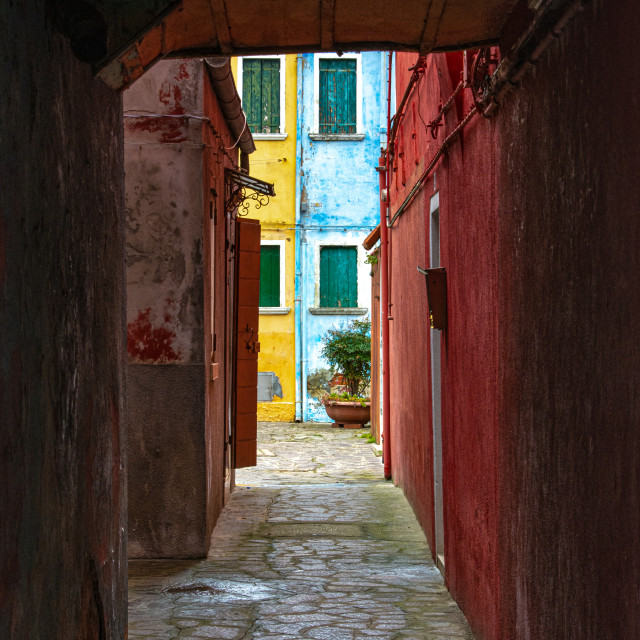 """""""Burano Behind the Canals"""" stock image"""