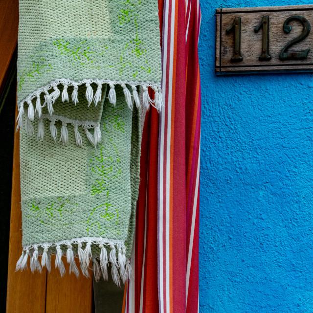 """Burano Doorways"" stock image"