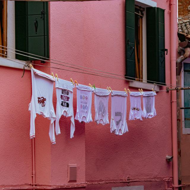 """Burano Back Street"" stock image"