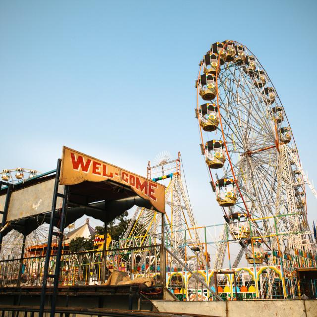 """""""Indian Fun Fair"""" stock image"""