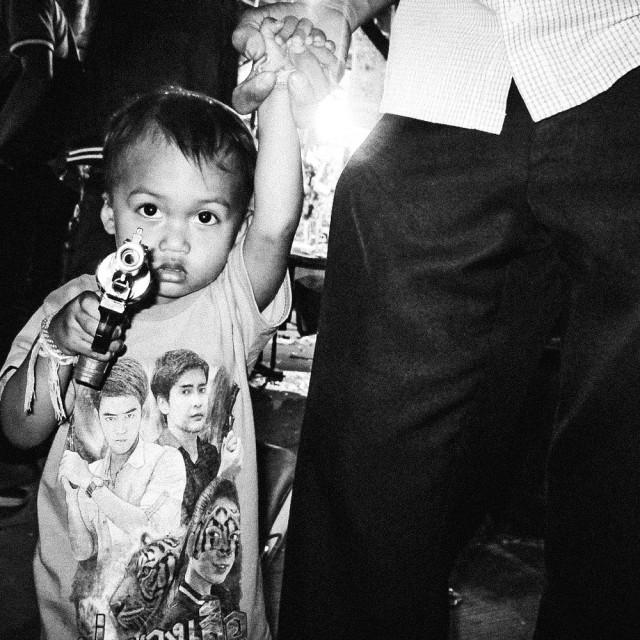 """""""Kid Gunslinger"""" stock image"""