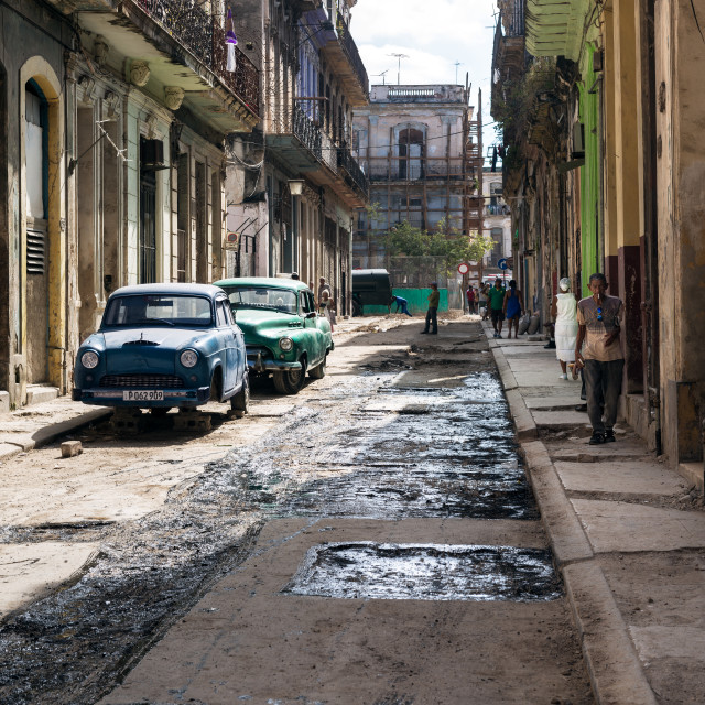 """""""Streets of Cuba"""" stock image"""