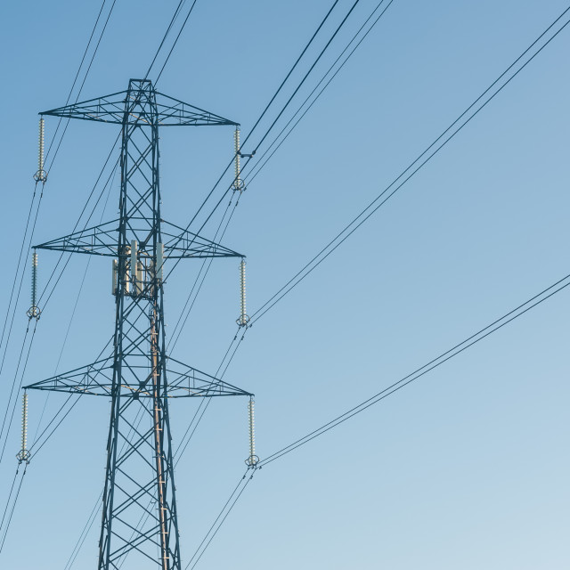 """high voltage power lines"" stock image"