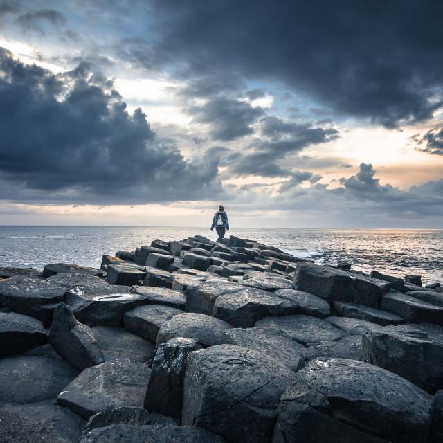 """""""Giants Causeway Ireland"""" stock image"""