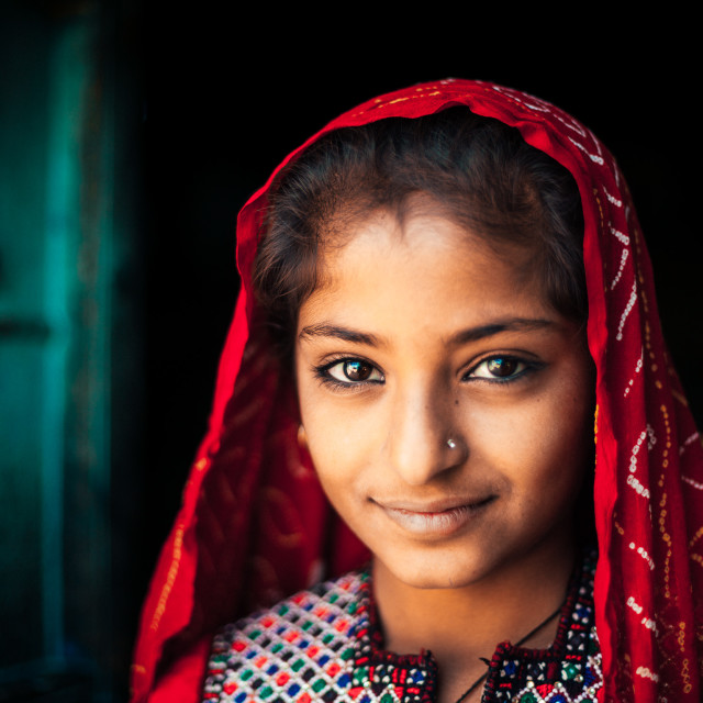 """""""Young Indian Girl"""" stock image"""