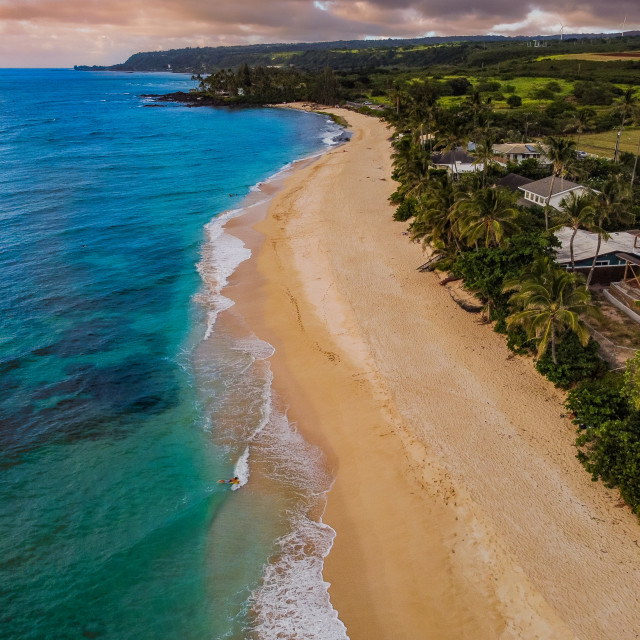 """North Shore Oahu"" stock image"