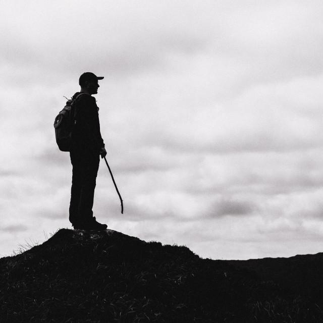 """Hiker Silhouette"" stock image"